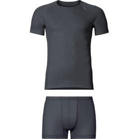 Odlo Cubic Kit Couches de base Homme, ebony grey/black